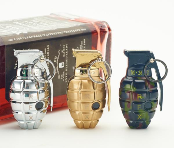 Златна запалка ръчна граната, нестандартни запалки, подаръци за пушачи