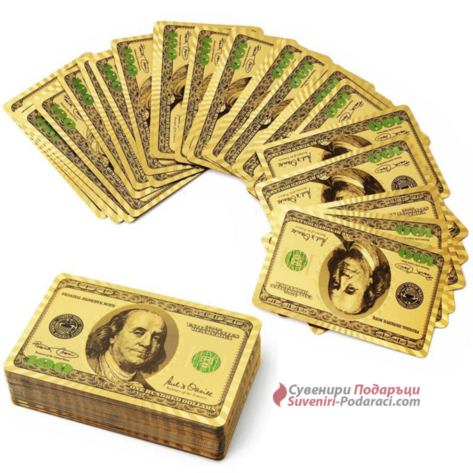 Златни карти за игра 24к – 100$