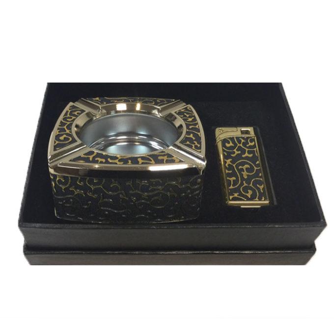 Подаръчен комплект с пепелник и запалка