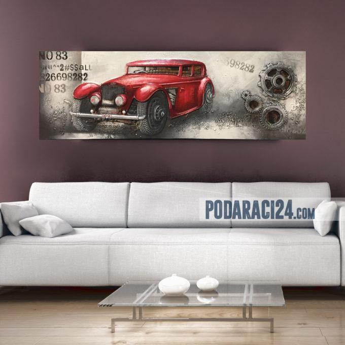 Картина 3Д Ретро Автомобил