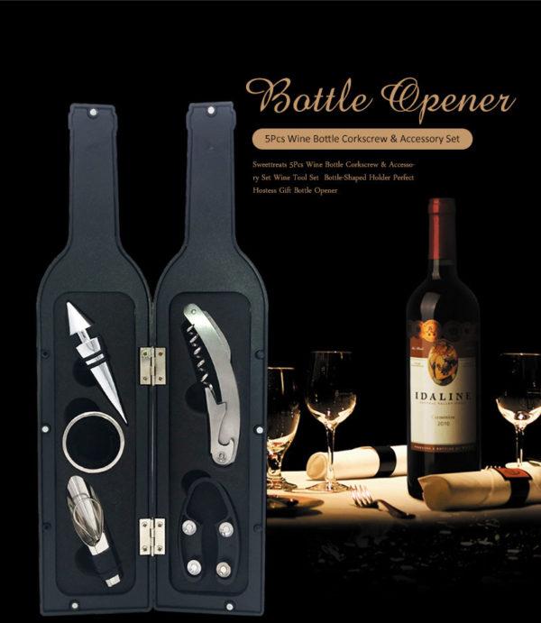 Аксесоари за вино в кутия тип бутилка Голяма