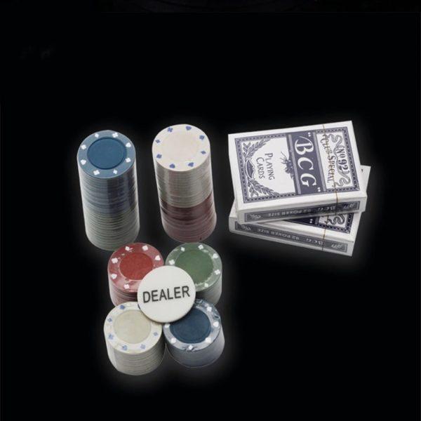 Покер комплект с 100 чипа, 2 тестета карти