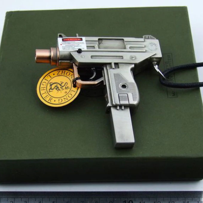 Запалка оръжия пистолет, нестандартни запалки, подаръци за мъж, пушач