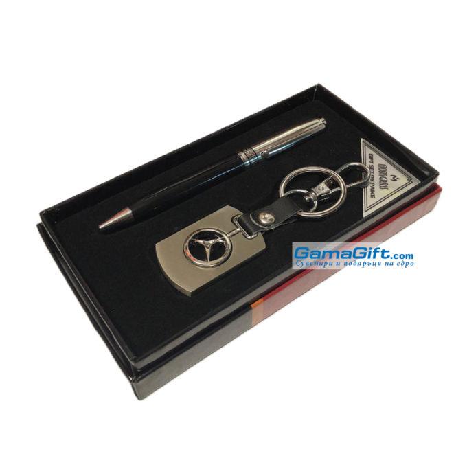 Подаръчен комплект химикал + ключодържател Mercedes